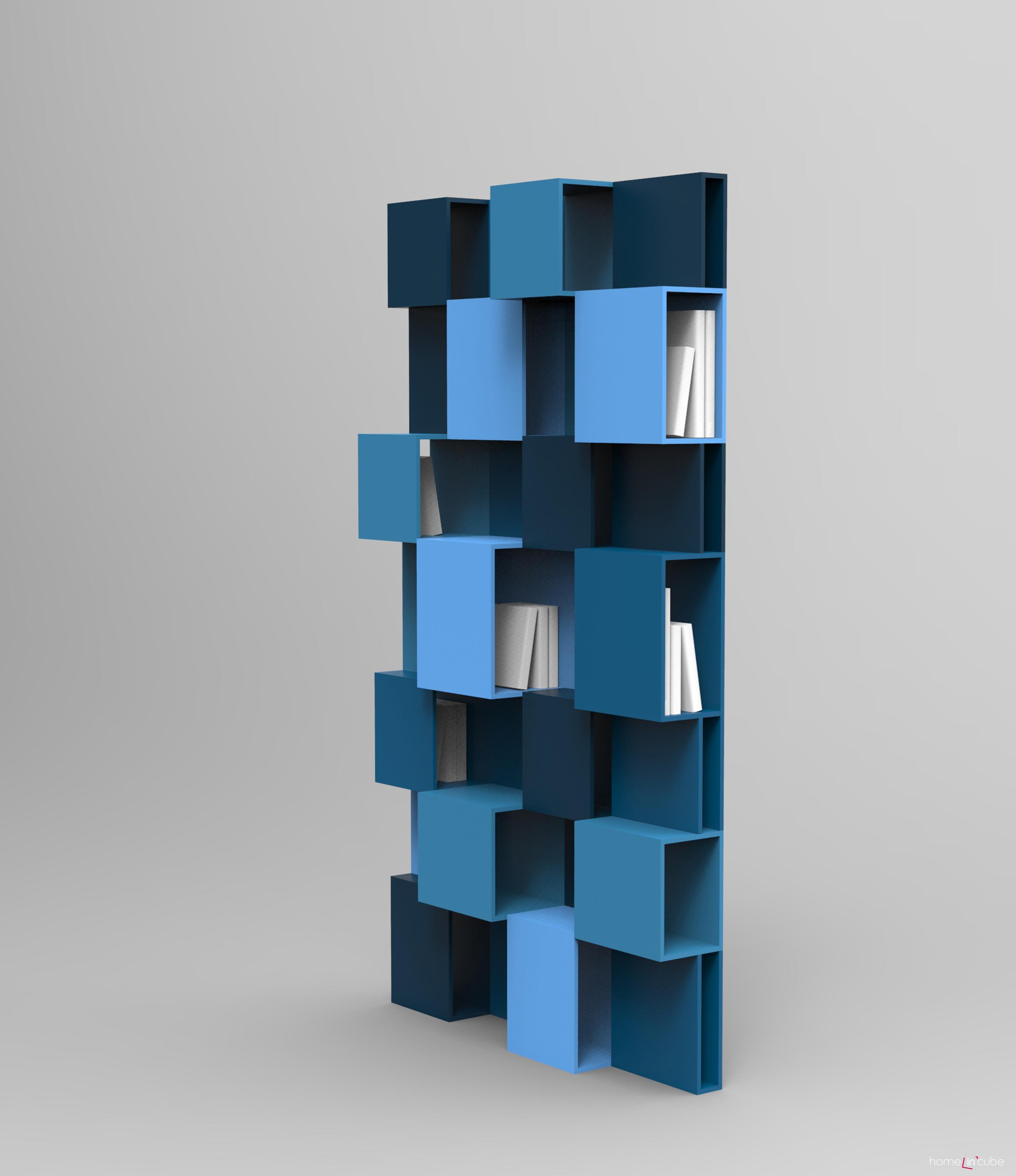 Netradičně pojatá knihovna Pixly se hodí do moderního interiéru