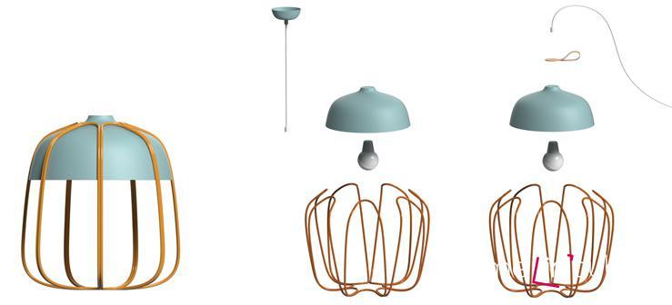 Stropní svítidlo Tull lamp se hodí třeba nad jídelní stůl