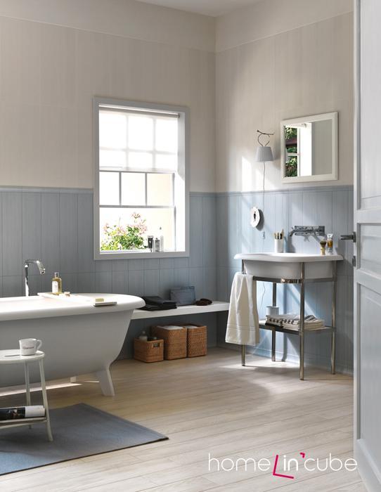 Pěkně působí, použijete-li vanu i umyvadlo ze stejné kolekce.