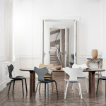 Nadčasová jídelní židle Grand Prix, deisgn Fritz Hansen, Arne Jacobsen