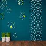 Nevšední dekoraci získáte geometrickými tvary. Samolepky jsou dokonalým nástrojem