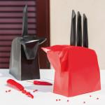 Užitný a dekorační prvek ve tvaru krávy Pablo typu 12_2995_PABLO_koziol je držákem na nože a je zhotoven z plastu.