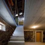 Betonové schodiště v rodinném domě