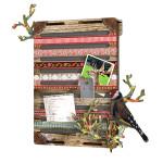 Dřevěná dekorativní nástěnka pro vkládání poznámek