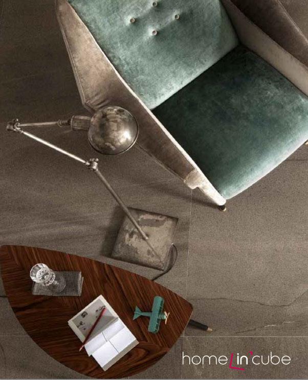 Slinutá rektifikovaná dlažba Basaltina odstín send (Ariostea), rozměr 100 x 100 cm, Kozak bath & interior.
