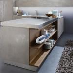Slinutá rektifikovaná dlažba Oxide odstín grigio (Laminam), rozměr 300 x 100 cm, Kozak bath & interior.