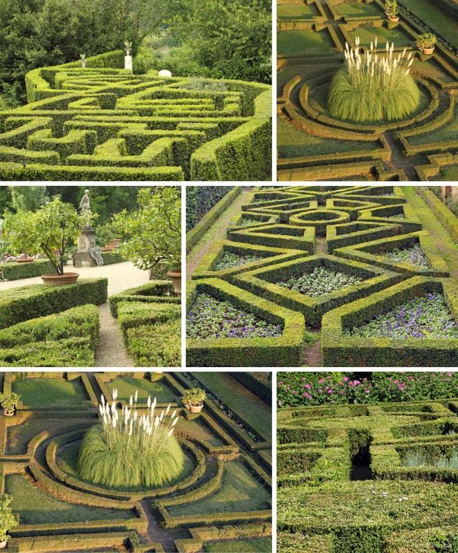 Zahradám připomínajícím výšivku se také říká broderiové partery