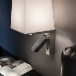 Nástěnné světlo do ložnice, Hall (Leds grok), kov/látka, Uni light