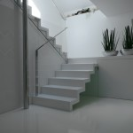 Horní denní osvětlení schodiště vytváří efektní prostor.