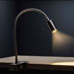 Lampa s klipsem Versa, kov Aulix