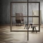 Marmoleum umožňuje vzory i kompozici na podlaze dle libosti a potřeb z formátů 50 x 25 cm.