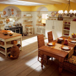 Volné stěny se ve venkovských kuchyních nenosí. Sestava English mood (Minacciollo), Collosseum.