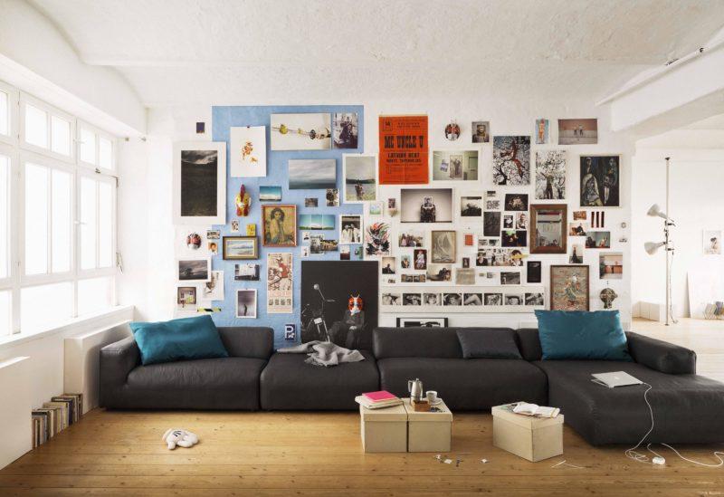 Hluboký a nízký sed je vhodný zejména do mladých domácností. Model 3700 (Rolf Benz), prodává Inpro CZ.