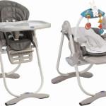 Řešení dětské židličky Poly (Chicco) umožňuje její variabilní využití od časného věku dítěte. Je výškově nastavitelná a sedák je polohovatelný.