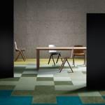 Pomocí vícebarevných modulů lze místnost rozdělit na prostory s různým využitím.