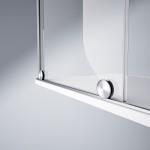 Nové pojezdy pro posouvání sprchové zástěny firmy Hüppe