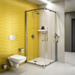Sprchový kout s nerezovou konstrukcí