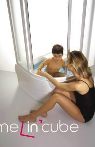 Sprchový kout Blix s hlubokou vaničkou Sabina. Ravak