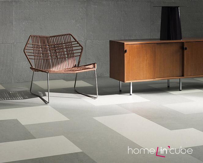Neutrální barvy a nekontrastní odstíny podlahy umožňují použít do interieru nábytek nejrůznějších tvarů i barev.