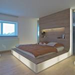 Podsvícená postel