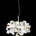 Lustr 5 brandvanegmond fractal chandelier round 100 white matt finish product black background