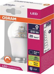 Na krabičce vás zajímá počet lumenů (oz. lm), barva světla a označení závitu.