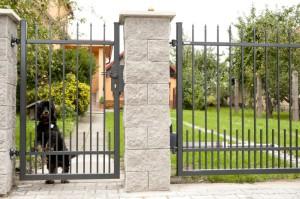 Kovaný plot firmy Lamark.