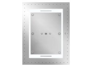 """Hlavová sprcha Rainshower F-Series 40"""" Aquasymphony, rozměr 100 x 75 cm poskytuje kromě několika druhů proudů i osvětlení a hudbu. Grohe."""