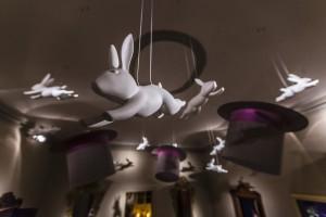 Netradiční dekorace v realizaci Salotto Boschi.