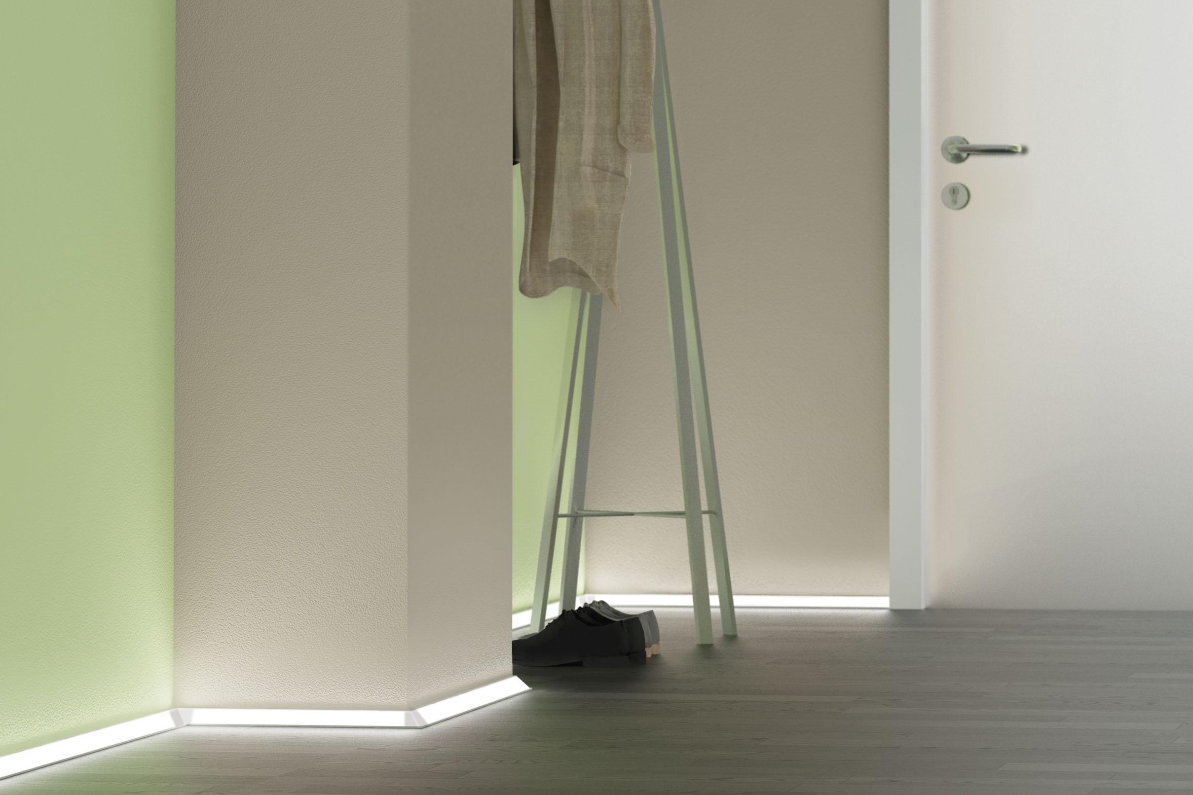 Profily, které se přilepí nebo přišroubují na požadované místo a do nich se nalepí LED pásek. Aulix.