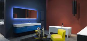 Zrcadlo by mělo být osvětlené ze všech stran. Ideální pro LED diody. Koupelnový koncept Antonio Lupi, Kozák Bath a Interior.
