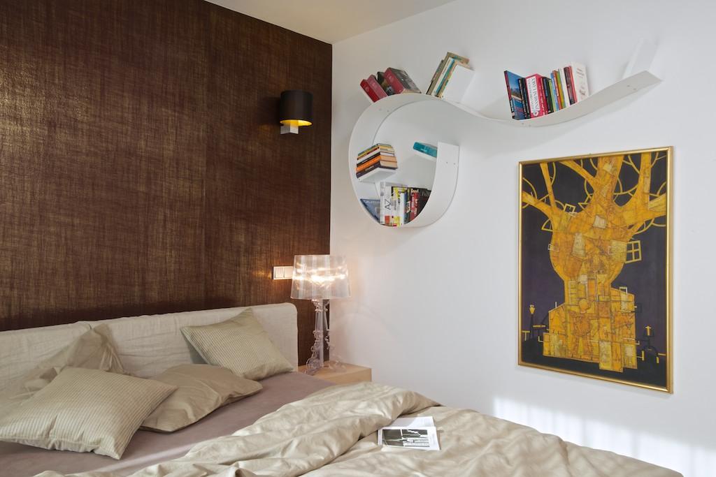 Obraz na stěně pochází od tatínka, malíře Jana Štěpánka.