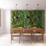 Příjemnou a o něco náročnější dekorací může být i stěna z rostlin.