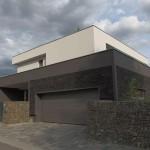 Přírodní materiál je použit i na řešení obložení domu.