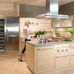 Je-li sestava koncipována do písmene U, pak by ostatní funkční prostory měly být situovány tak, aby nebyl možný přímý pohled do kuchyně.