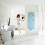 Designové radiátory pro koupelny Zehnder Vitalo Spa zaujmou svým tvarem, zvláště malou tloušťkou pouhých 16 mm a nízkou vlastní hmotností.