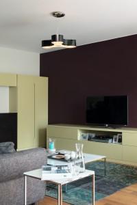Lakovaný nábytek v interiéru pochází z dílny Inpro CZ.