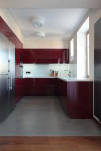 Kuchyně je vyrobená na míru prostoru v dílně firmy Inpro CZ.