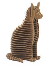 Dekorativní kočka z kartonového papíru