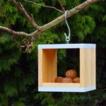 Krmítko pro ptáčky rubils snow, dřevo/kov, rozměr 20 x 20 x 20 cm, cena 690 Kč