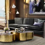 Odstíny zlata na drobném nábytku a doplňcích