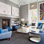 Interiér s použitím trendy pantone odstínu serenity