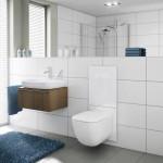 Toaleta TECElux má skleněnou krycí desku, která lze odklopit a za nimi se skrývají veškeré technologie.