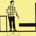 65 a víc centimetrů vedle lůžka a po té může být nábytek.