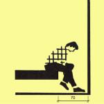Abyste se pohodlně posadili na lůžko, postačí 70 cm mezi jím a stěnou.