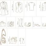 Při plánování vnitřního vybavení skříně vycházejte ze standardních rozměrů oblečení.