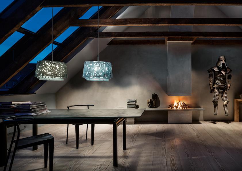 Stropní svítidlo Collage, Louis Poulsen.