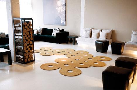 Tvarovaný koberec je sám o sobě výrazným doplňkem