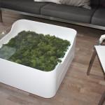 Konferenční stolek do obýváku s možností zasazení zeleně, Le Bon