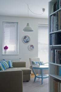 Kombinace bílé s tyrkysovou barvou evokuje středomořské prostředí, které vyvolává velmi příjemný pocit.